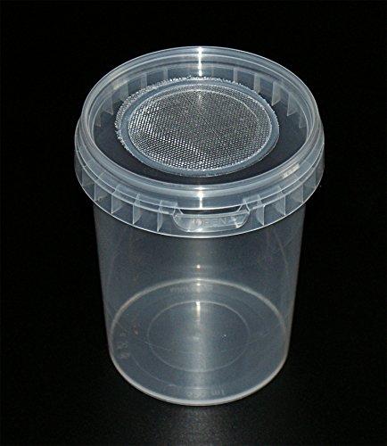 Drosophila Zuchtbehälter Drosophilazucht, Fruchtfliegen, Spinnenzucht mit Gaze Deckel