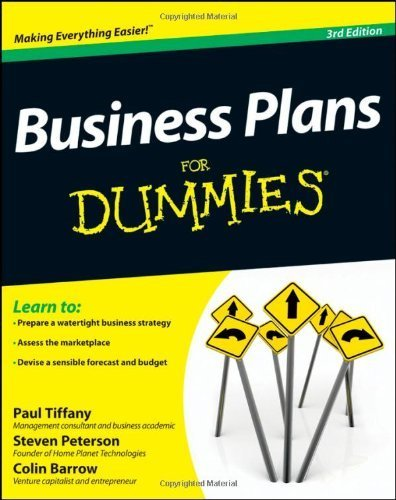 Business Plans For Dummies by Tiffany, Paul, Peterson, Steven D., Barrow, Colin (2012) Paperback