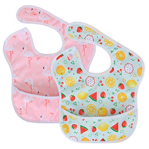 Luxja Baberos Impermeables Bebe 2 Paquetes