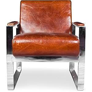 Fauteuil Design Churchill Lounge - Cuir Premium Chene