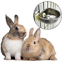 Haorw Animales Pequeños botellas de agua Bebedero para conejos Agua zubringer Indoor Outdoor