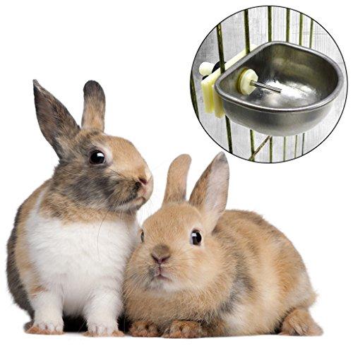 Haorw Kleintiere Wasserflaschen kaninchen tränke Wasser Zubringer Indoor Outdoor (2#)
