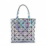 WDBB Wassertropfen Handtaschen Casual Geometrische Rhythmus Änderbar Falt-Laser-Paket Vier Typ 33...