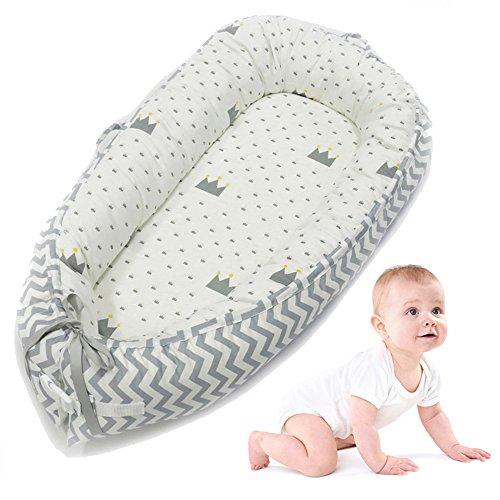 Aolvo bébé Berceau pour lit, le tout dans un bain de bébé, nouveau-né Infant Toddler Portable Co-dodo Berceaux et Accueille Coussin de chaise longue Super Doux et respirant Dormir Nid, Cocoon Snuggle Lit pour 0–2ans