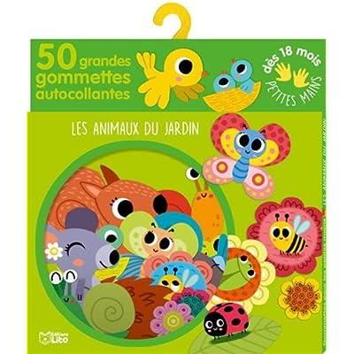 Gommettes pour les petites mains: Les animaux du jardin - Dès 18 mois