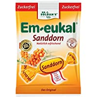 Em-eukal Bonbons Sanddorn zuckerfrei, 75 g preisvergleich bei billige-tabletten.eu