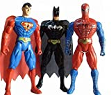 Toysale Spiderman Superman Batman Super Hero Figures Pack of 3 Hight 22 cm