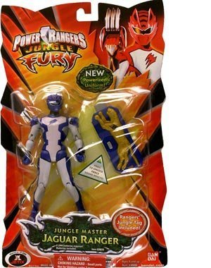 Power Rangers Jungle Fury 6 Inch Tall Action Figure - Jungle Master Jaguar Ranger with New Powerized Uniform and Rangers' Jungle Tag For Battle Sounds by (Ranger Uniform Power)