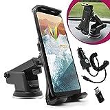 mobilefox® 360° 2in1 Set KFZ Handy Saugnapf Armaturenbrett Halter Halterung + Typ-C Ladekabel für Samsung Galaxy Note 8 A3 A5 (2017)