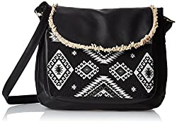 Kanvas Katha Womens Handbag (Black) (KKSMX008)
