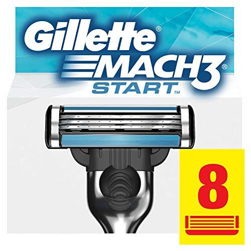 Gillette Mach3 Start Lamette per Rasoio da Uomo, 8 Testine