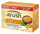 Palanca de jabón Ayush purificación de la cúrcuma, 100g (paquete de 4)