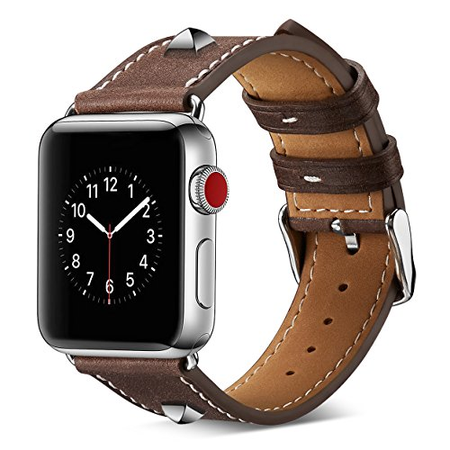 Handys & Kommunikation Lederarmband Für Die Apple Watch 42mm Uhrenarmband Armband Braun Moderne Techniken Uhrenarmbänder