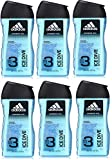 adidas Ice Dive 2in1 Duschgel, 6 x 250 ml