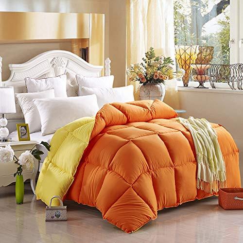 YSYW Daunendecke Bettbezug Mittelschwer Für Die Ganze Saison Flauschig Warm Weich Hypoallergen,Orange-200 * 230cm/3kg