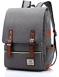 Preisvergleich für HugeStore Damen Herren Vintage Leinwand Rucksäcke Rucksack Daypack Schultasche Reisetasche Schulrucksack Backpack