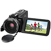 Digital Camera,Prous Video Camcorder CR18 3.0 Inch LCD Screen Wireless Night Vision Camcorder 16X Zoom Digital Recorder Support 270 degree rotation SD Card with External Microphone Camera Tripod