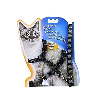 LA VIE Harnais reglable laisse collier durable en nylon pour lapin chat Longueur de 120cm 4couleurs disponible