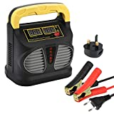 Car Battery Charger and Maintainer, 12V/24V 10A Automotive Battery Charger/Maintainer with LCD Screen