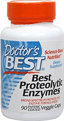 Doctor's Best Proteolytic Enzymes, 90 Enteric Coated Vegetarian Capsules