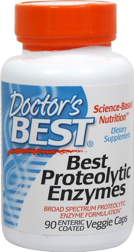 Doctors Best Proteolytic Enzymes, 90 Enteric Coated for sale  Delivered anywhere in UK