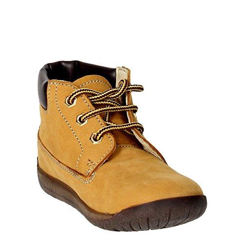 Falcotto 1412 NABUK/SPRINT Chaussures À Lacets Garçon Ambre