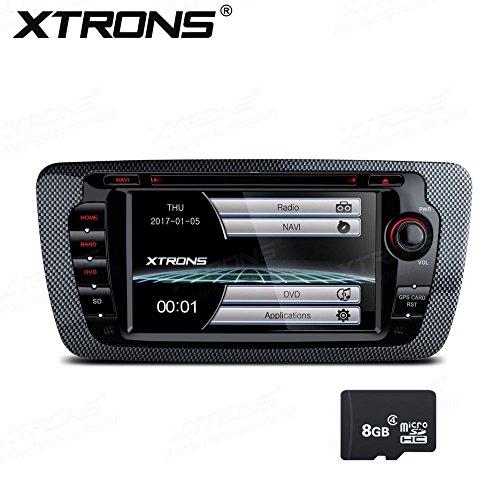 XTRONS 7Inch HD Pantalla táctil Digital Coche estéreo in-Dash Reproductor de DVD con GPS, canbus, duplicado de Pantalla para Seat Ibiza 2009-2013Kudos Tarjeta de Mapa Incluye
