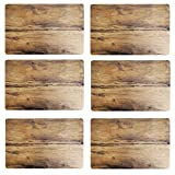 BADA BING 6er Set Tischset Eiche natürliches Holz Design