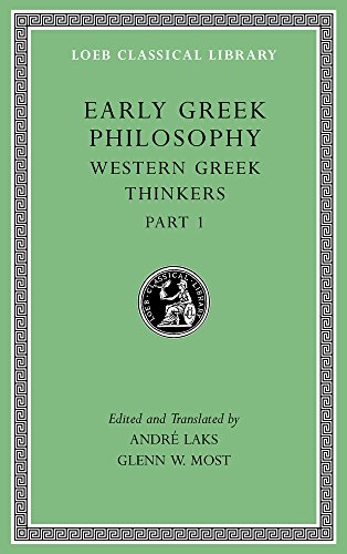 Early Greek Philosophy, Volume Iv