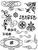 Tampon Transparent Spirales et arabesques - Artémi