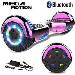 """Mega Motion Hoverboard Self Balance Scooter Elettrico E1-6.5"""" Elettrico Segway - Bluetooth - [Sicurezza UL CE] (Rosa elettrolitica)"""