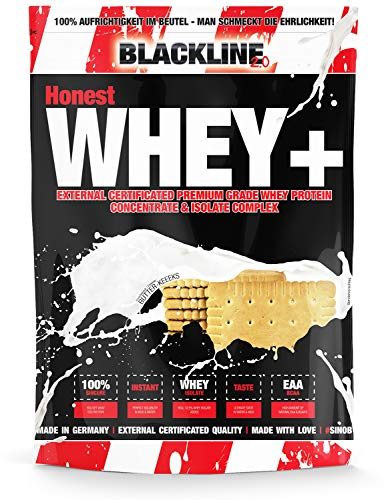 sinob Honest Whey+ Protein (Butter-Keeeks). Eiweißpulver Mit BCAA & EAA. 1 x 1000 g