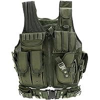 8494d5f78d82 Lixada Maglia per Tattico Militare Esercito Poliestere Airsoft Gilet da  Caccia per All aperto Campeggio
