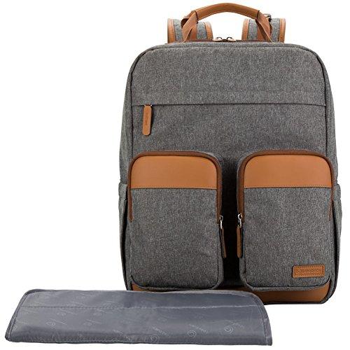 Preisvergleich Produktbild Lekebaby Wickelrucksäcke Unisex für Mama und Papa Reisen nutzen Tagesrucksack, Grau