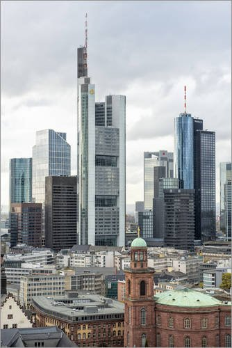 alu-dibond-80-x-120-cm-europaische-zentralbank-skyline-mit-paulskirche-commerzbank-gebaude-di-bernd-