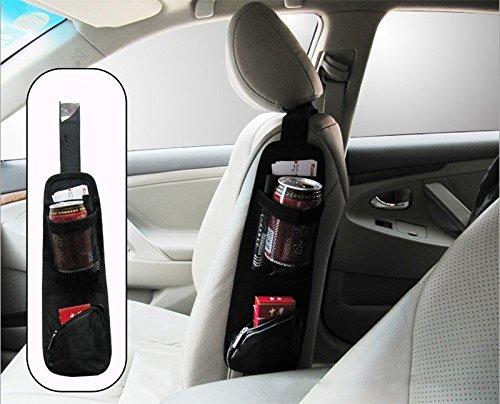 Ptcm auto car sedile lato posteriore archiviazione pocket backseat organizer (nero )