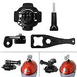 Fantaseal® Actionkamera Helm Halterung Set Actionkamera Helmhalterung Actioncam Helmet Mount...