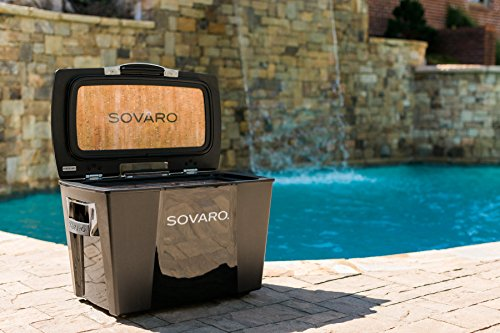 Sovaro Luxury Cooler, Black/Chrome, 30 quart