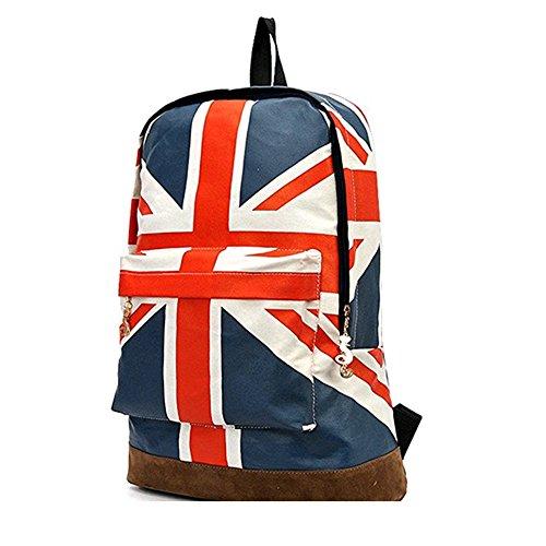 81c3a0a98b910 LAAT Segeltuch Schulter Beutel Britischer Flaggen Schule Beutel Beiläufiger  Mode Buchtasche Jugendlicher Schulter Beute 2 ...