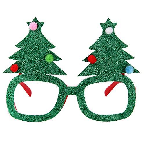 Brille Partybrille Spaßbrille Erwachsene Kinder Party Kostüm Zubehör - Weihnachtsbaum (Weihnachtsbaum Kostüme Für Erwachsene)