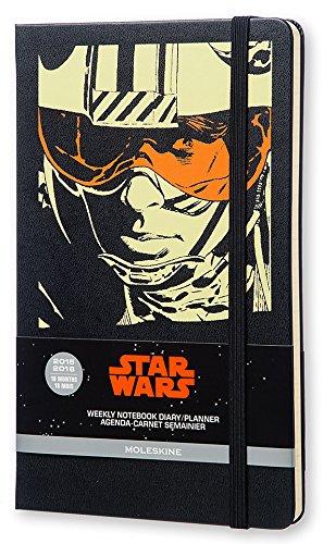 Moleskine 2015-2016 Star Wars Edition limitée Semainier Carnet de note, 18 mois, Large, Noir, Couverture rigide (21 x 13 cm)