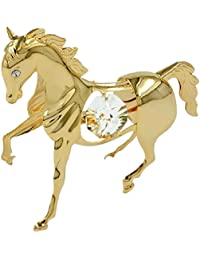 Decoration jewellery horse crystal elements gold