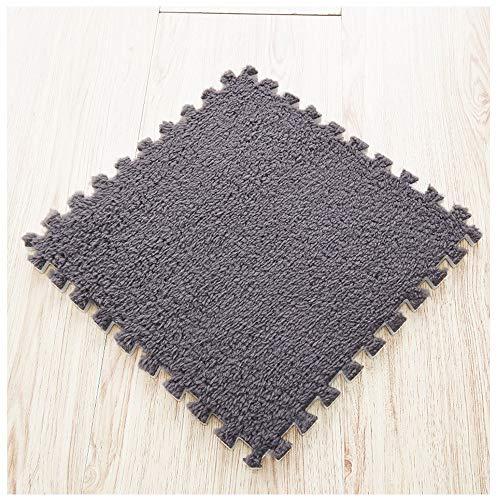 Trockenen Schaum Teppich (Nähte Teppich Matte Tür Matte Eva Schaum Schlafzimmer Wohnzimmer Krabbeln Matte Puzzle Bodenmatte Plush30 * 30 cm (Color : Gray))