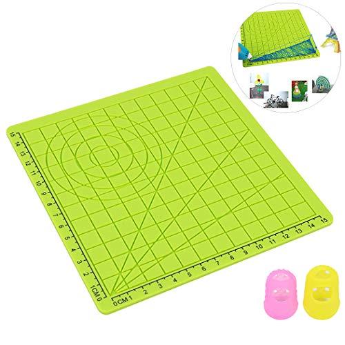 Outgeek Zeichnung Vorlage Silicone Matte mit Fingerkappe für das 3D Druckstiftdesign