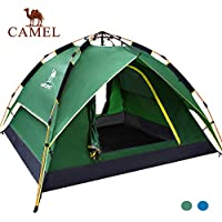 Camel Tienda Instantánea de Campaña de Apertura Automático Hidráulica UV Protección Playa Camping al Aire Libre Portátil Impermeable Ventilada y Duradera Tipo iglú 2-3 Personas