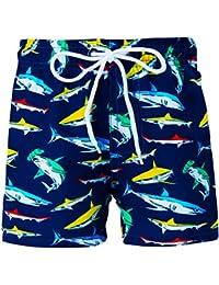 66b9adb54e Funnycokid Boys Swim Shorts 3D Printed Funny Swim Trunks Quick Dry  Beachwear Kids Board Trunks 3