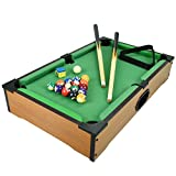 Kids Mini Wooden Table Top Pool Play Snooker Game Set Felt Surface With