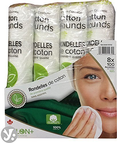 Delon 100% Cleansing Cotton Rounds, 800 Count by Delon 100% Cleansing Cotton