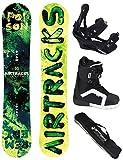 AIRTRACKS SNOWBOARD SET - BOARD POISON 160 - SOFTBINDUNG SAVAGE - SOFTBOOTS STRONG 43 - SB BAG