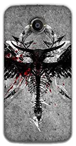 The Racoon Grip Angel warrior hard plastic printed back case / cover for Moto X 2nd Gen